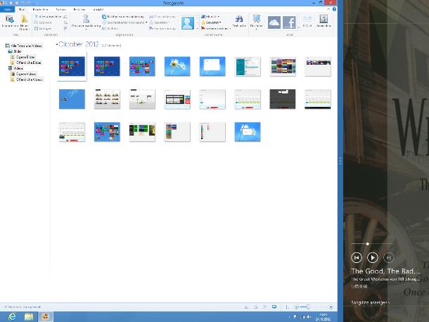 Anwendungen im Snapped Mode können rechts oder links platziert werden (Screenshot: ZDNet).