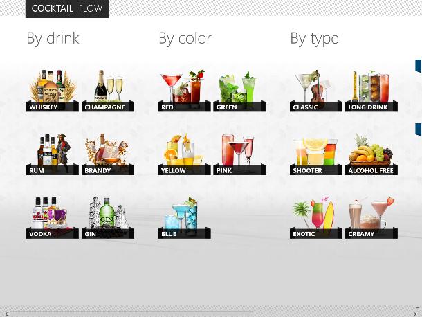 Cocktail Flow zeigt, wie gut Windows-8-Apps aussehen können (Screenshot: ZDNet).