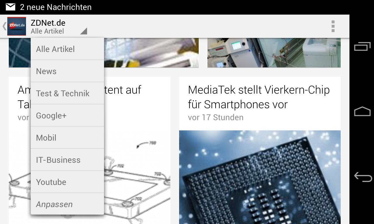 Weitere Features:<br> Blogs und Feeds – Verwandeln Sie Ihre Google Reader-Abonnements und Ihre Lieblings-Blogs und Feeds in ansprechende Ausgaben mit Zeitschrift-Flair.<br> Übersetzen – Currents übersetzt Ausgaben mit der Übersetzungstechnologie von Google in die Sprache Ihrer Wahl. 44 Sprachen werden unterstützt.<br> Widget – Aktuelle Nachrichten auf Ihrem Android-Startbildschirm mit dem Google Currents-Widget<br> Screensaver: Besitzer von Nexus-Geräten können Currents unter Einstellungen - Display - Daydream auch als Screensaver konfigurieren.