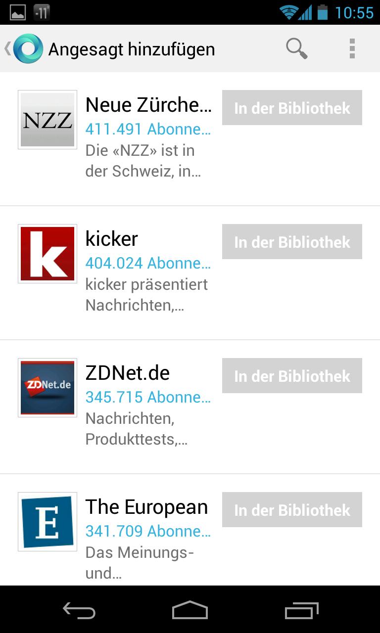 Google Currents: ZDNet.de zählt zu den populärsten deutschsprachigen Angeboten