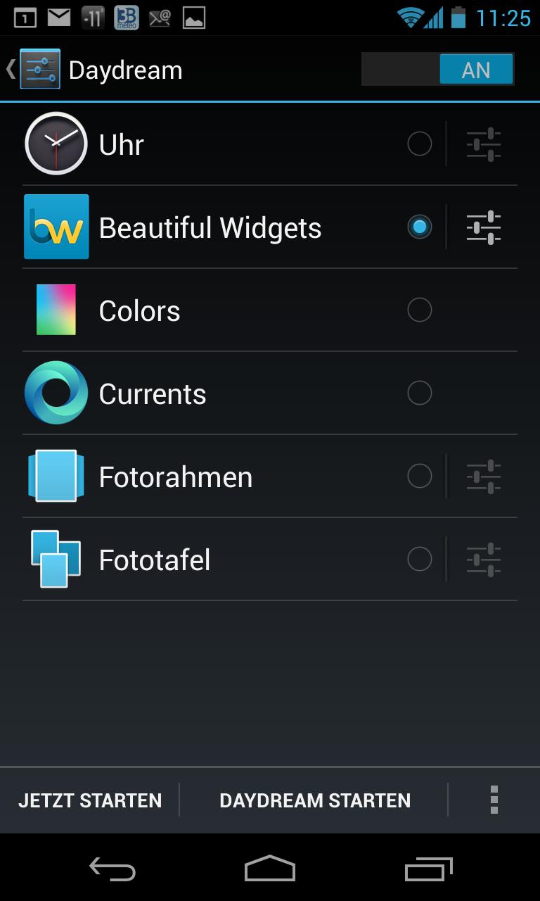Google Currents: Konfiguration als Screensaver unter Android