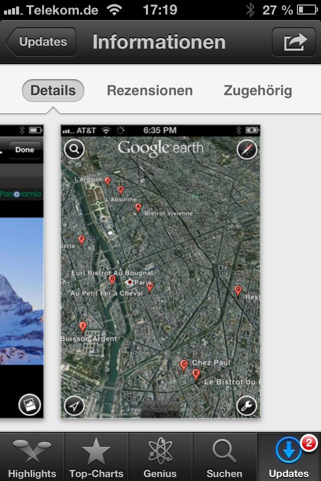 Nachdem bereits vor vier Wochen Google Earth 7.0 für Android erschienen ist, gibt es nun die neue Version auch für iOS. Sie steht kostenlos im App Store zur Verfügung.