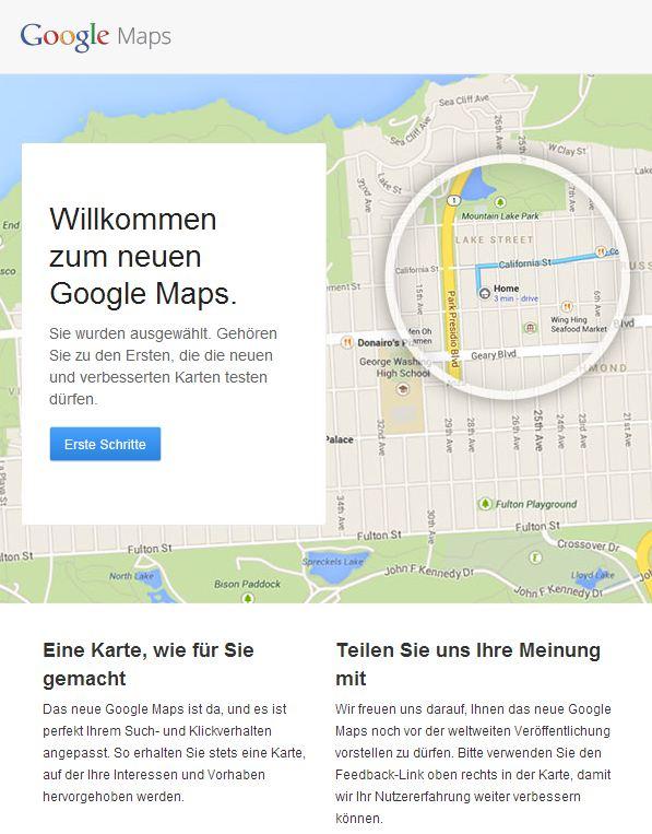 """Google hat auf der Entwicklerkonferenz I/O 2013 eine neue Version seines Kartendiensts Maps vorgestellt. Die Nutzung ist allerdings noch nicht öffentlich zugänglich. Lediglich ausgewählte registrierte Anwender erhalten derzeit Zugang auf den erneuerten Google-Kartendienst.  Wer schon Gelegenheit hatte, die aktualisierte Version zu testen, wird von den Neuerungen wahrscheinlich ziemlich begeistert sein. Die Usability hat sich deutlich verbessert, was auch daran liegt, dass die integrierten Nutzer-Fotos nicht als Icon auf der Karte erscheinen, sondern unterhalb verkleinert präsentiert werden.  Anwender erhalten zu jeder Suche eine personalisierte Karte, die laut Google für den Nutzer wichtige Details wie Restaurants und Sehenswürdigkeiten enthält. Als Beispiel nennt Google eine Karte mit einer Wegbeschreibung zum Haus eines Freundes, die nur die Straßen zeigt, die benötigt werden, um das Ziel zu erreichen. Die neuen, an Google Now angelehnten """"Info-Karten"""" liefern Details zu Wegpunkten wie Öffnungszeiten, Bewertungen und Links zu Street View."""