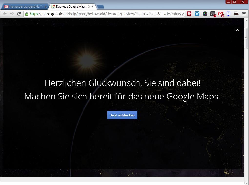Nur ausgewählte Nutzer erhalten derzeit Zugang zu der neuen Version von Google Maps.