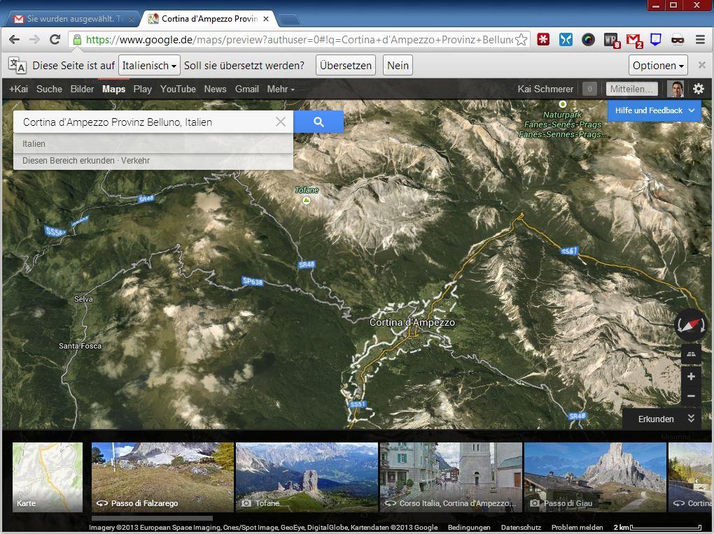 Dank der Integration von Panoramio liegen auch Fotos von zahlreichen Urlaubsorten vor.
