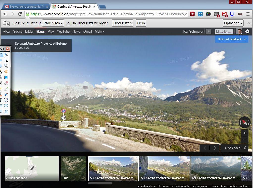 Google Streetview steht ebenfalls zur Verfügung.