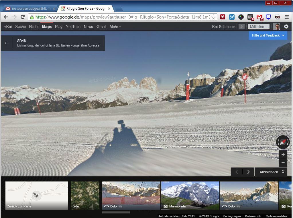 Offenbar hat Google Snowmobile losgeschickt, um Fotos von den Pisten zur erstellen.