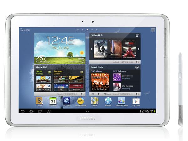 """Samsungs auf dem Mobile World Congress in Barcelona angekündigtes 10-Zoll-Tablet Galaxy Note 10.1 ist ab sofort verfügbar. Es misst 26,2 mal 18 mal 0,9 Zentimeter und wiegt rund 600 Gramm. Außer einer rückseitigen 5-Megapixel-Kamera mit Autofokus und LED-Blitz besitzt das Tablet auch eine 1,9-Megapixel-Webcam auf der Frontseite. GPS ist ebenfalls an Bord. Der eingebaute Lithium-Polymer-Akku bietet eine Kapazität von 7000 mAh. Beim Betriebssystem setzt Samsung auf Android 4.0. Die Besonderheit des Galaxy Note 10.1 ist die Bedienung per Finger oder Stift. Das Note 10.1 ist zunächst in einer reinen WLAN-Version sowie in einer Variante mit WLAN und UMTS erhältlich. Später im Jahr soll ein Modell mit Unterstützung für WLAN und LTE folgen. Die WLAN-Version kostet mit 16 GByte internem Speicher 599 Euro. Für die UMTS-Variante mit gleicher Kapazität verlangt Samsung 689 Euro (Foto: CNET Asia). <br><br><i><a href=\""""http://www.zdnet.de/88118105/angetestet-samsung-galaxy-note-10-1/\"""" target=\""""_extern\"""">Vollständigen Artikel lesen</a> </i>"""
