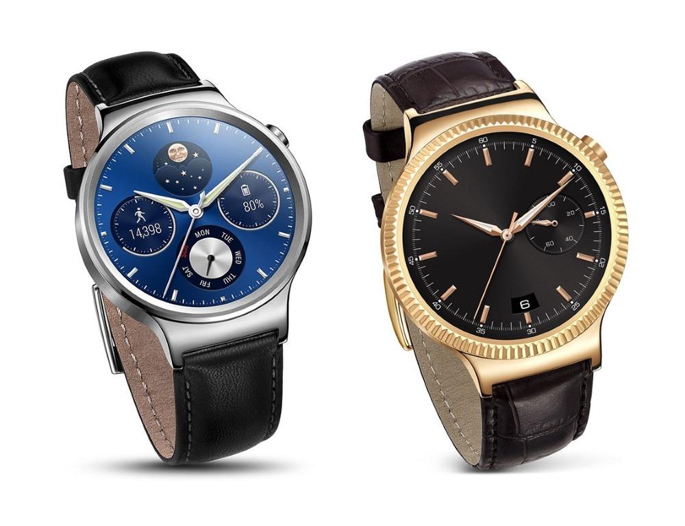 """<b>Huawei Watch</b></br>Huawei wendet sich mit seiner schlicht <a href=\""""http://consumer.huawei.com/minisite/worldwide/huawei-watch/index.htm\"""" target=\""""_blanK\"""">Watch</a> genannten Variante einer intelligenten Uhr an eine Käuferschicht, die bereit ist, etwas mehr Geld in eine Smartwatch zu investieren und dafür eine höhere Qualität erwartet. Das günstigste Modell kostet 399 Euro, das teuerste 699 Euro. Sämtliche Varianten sollen noch diesen Monat erhältlich sein. Vorgestellt hatte Huawei die Smartwatch bereits zum Mobile World Congress. Der chinesische Hersteller setzt auf ein rundes Zifferblatt. Das Amoled-Display löst mit 400 x 400 Pixel auf und bietet bei einem Durchmesser von 42mm eine Pixeldichte von 286 ppi. Den Kontrast gibt der Hersteller mit 10000:1 an. Für den Schutz des Displays verwendet Huawei kratzfestes Saphirglas. Für das Gehäuse hat der Hersteller besonders hochwertiges Edelstahl vom Typ 316L verwendet. Die Watch ist in Silber, Schwarz und Gold erhältlich. Als Armbänder stehen Ausführungen in Leder und Metall zur Verfügung. Als Betriebssystem kommt die neuste Version von Android Wear zum Einsatz. Damit ist die Uhr nicht nur zu Android-Smartphones kompatibel, sondern kann auch in Kombination mit einem iPhone betrieben werden."""