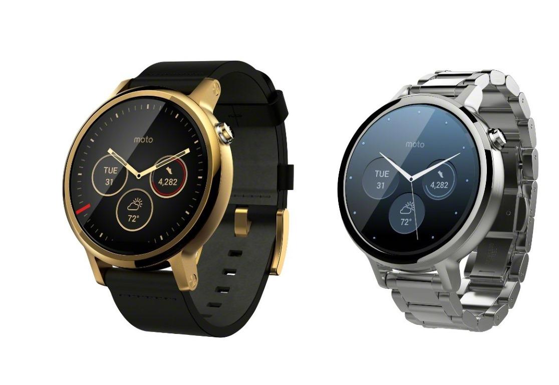 """<b>Moto 360 v2</b></br> Motorola hat auf der IFA den Nachfolger seines letztjährigen Modells Moto 360 <a href=\""""http://www.zdnet.de/88245780/motorola-kuendigt-zweite-generation-seiner-smartwatch-moto-360-an/\"""" target=\""""_blank\"""">vorgestellt</a>. Die <a href=\""""http://www.motorola.de/products/moto-360\"""">aktualisierte Produktreihe</a> umfasst Uhren in zwei Größen sowie ein Sportmodell mit integriertem GPS-Modul. Die Standardausführungen können ab dem 15. September in Motorolas Onlineshop vorbestellt werden. Sie sollen Ende des Monats zu einer unverbindlichen Preisempfehlung ab 299 Euro in den Handel kommen. Zur Moto 360 Sport liegen noch keine Angaben zu Preis und Verfügbarkeit vor. Wie das Vorjahresmodell besitzt die Moto 360 (2015) ein rundes Display mit schwarzem Rand an der Unterseite, unter dem diverse Sensoren sitzen. Die Dicke ist mit rund 11 Millimetern ebenfalls unverändert. Dafür haben Käufer nun die Wahl zwischen zwei Durchmessern von 4,2 oder 4,6 Zentimetern. Damit spricht Motorola sowohl Frauen als auch Männer an. Die Bildschirmauflösung beträgt beim kleineren Modell 360 mal 325 Pixel und beim größeren 360 mal 330 Pixel.</br> Dem Sportmodell vorbehalten bleibt ein GPS-Empfänger. Dieser erlaubt Nutzern, beim Laufen oder Radfahren die zurückgelegte Strecke und erzielte Geschwindigkeit aufzuzeichnen, ohne ein mit der Uhr gekoppeltes Smartphone mitführen zu müssen. Die Moto 360 Sport besitzt ebenfalls ein rundes Display, das auch bei direkter Sonneneinstrahlung gut ablesbar sein soll."""