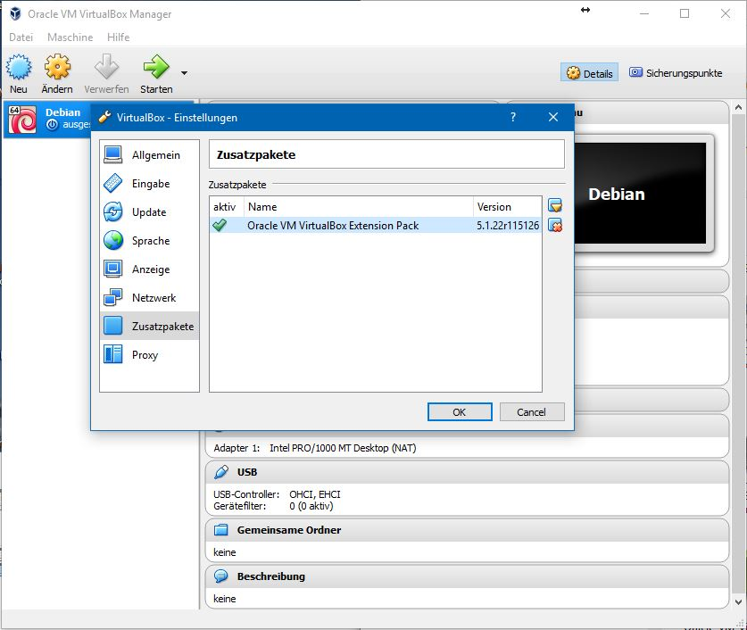 """Die laut Distrowatch beliebteste Linux-Distribution Linux Mint liegt bald in der neuen Version 18.2 Sonya vor. Linux Mint 18.2 Sony wird es in vier verschiedenen Versionen mit unterschiedlichen Desktop-Oberflächen geben: Cinnamon, Mate,  KDE und Xfce. Mit Virtualbox kann man die neue Mint-Version sehr einfach ausprobieren. Im folgenden wird diese Installationsart für die KDE-Variante Schritt-für-Schritt erläutert. Damit ist es möglich sich zunächst mit Mint vertraut zu machen, ohne dass dadurch die bisherige Systemkonfiguration beeinflusst wird. <br> Nach der Installation von Virtualbox empfiehlt sich noch die Integration des Zusatzpakets Virtualbox Extensions Pack.  Es erweitert die Funktionalität der Virtualisierungssoftware um wichtige Komponenten. So werden nach der Installation USB-2.0-Anschlüsse und der Virtualbox-Remote-Desktop unterstützt.</br> Downloads:</br> - <a href=\""""https://www.virtualbox.org/wiki/Downloads\"""" title=\""""Download: Virtualbox für Windows, macOS oder Linux\"""">Virtualbox für Windows, macOS oder Linux</a></br> - <a href=\""""http://download.virtualbox.org/virtualbox/5.1.22/Oracle_VM_VirtualBox_Extension_Pack-5.1.22-115126.vbox-extpack\"""" title=\""""Download: Virtualbox Extensions Pack\"""">Virtualbox Extensions Pack</a></br> - <a href=\""""https://www.linuxmint.com/release.php?id=29\"""" title=\""""Download: Linux Mint 18.2 \"""">Linux Mint 18.2 mit Cinnamon-, KDE-, Mate- oder Xfce-Oberfläche</a>"""