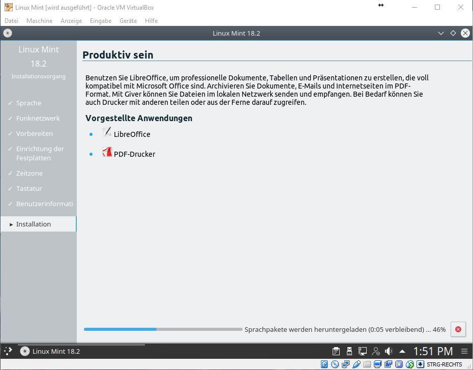 Linux Mint 18.2 Sonya mit Virtualbox installieren   ZDNet.de