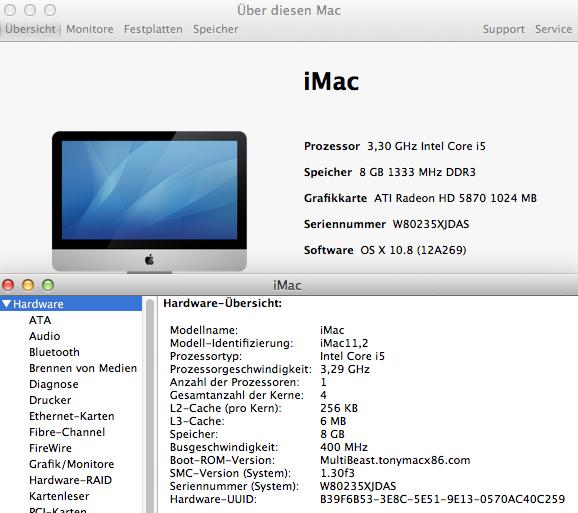 OS X Mountain Lion 10.8 läuft auch auf PCs