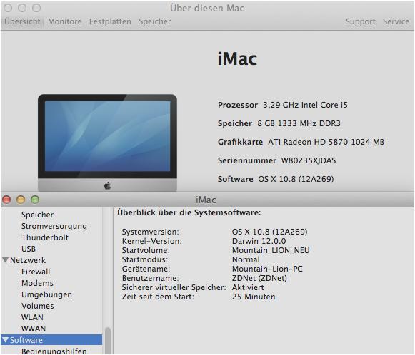Für die Installation von Mountain Lion auf einem PC kann der Original-Kernel verwendet werden, sofern als Basis ein System mit Intel-CPU zum Einsatz kommt.