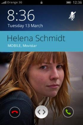 Der Bildschirm bei einem eingehenden Anruf  (Bild: NetMediaEurope).