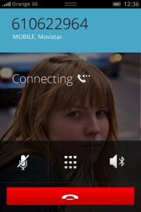 Der Bildschirm bei einem ausgehenden Anruf  (Bild: NetMediaEurope).