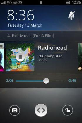 Das Audio-Widget bei Firefox OS (Bild: NetMediaEurope).
