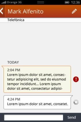 SMSsen bei Firefox OS (Bild: NetMediaEurope).