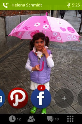 Die Social-Media-Einbindung (Bild: NetMediaEurope).