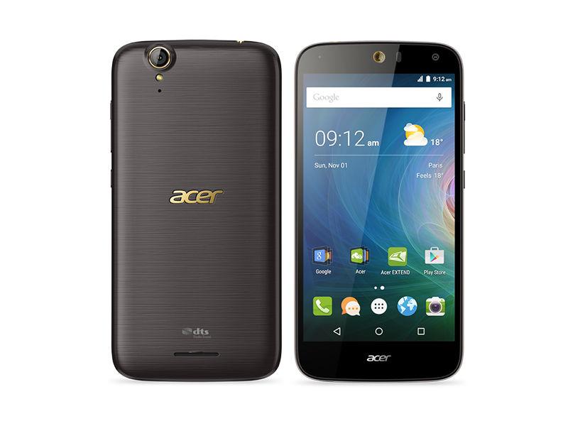 Das Acer Liquid Z630S bringt einen 5,5-Zoll-Screen mit 1280 mal 720 Bildpunkten und wird von MediaTeks Achtkern-CPU MT6753 mit 1,3 GHz Takt und integrierter Mali-720T-GPU angetrieben. Unterstützt wird der Prozessor von 3 GByte RAM. Der interne Speicher ist 32 GByte groß, der Akku hat eine bemerkenswerte Kapazität von 4000 mAh. Das Acer Liquid Z630S ist schon für 229 Euro im Handel erhältlich (Bild: Acer).