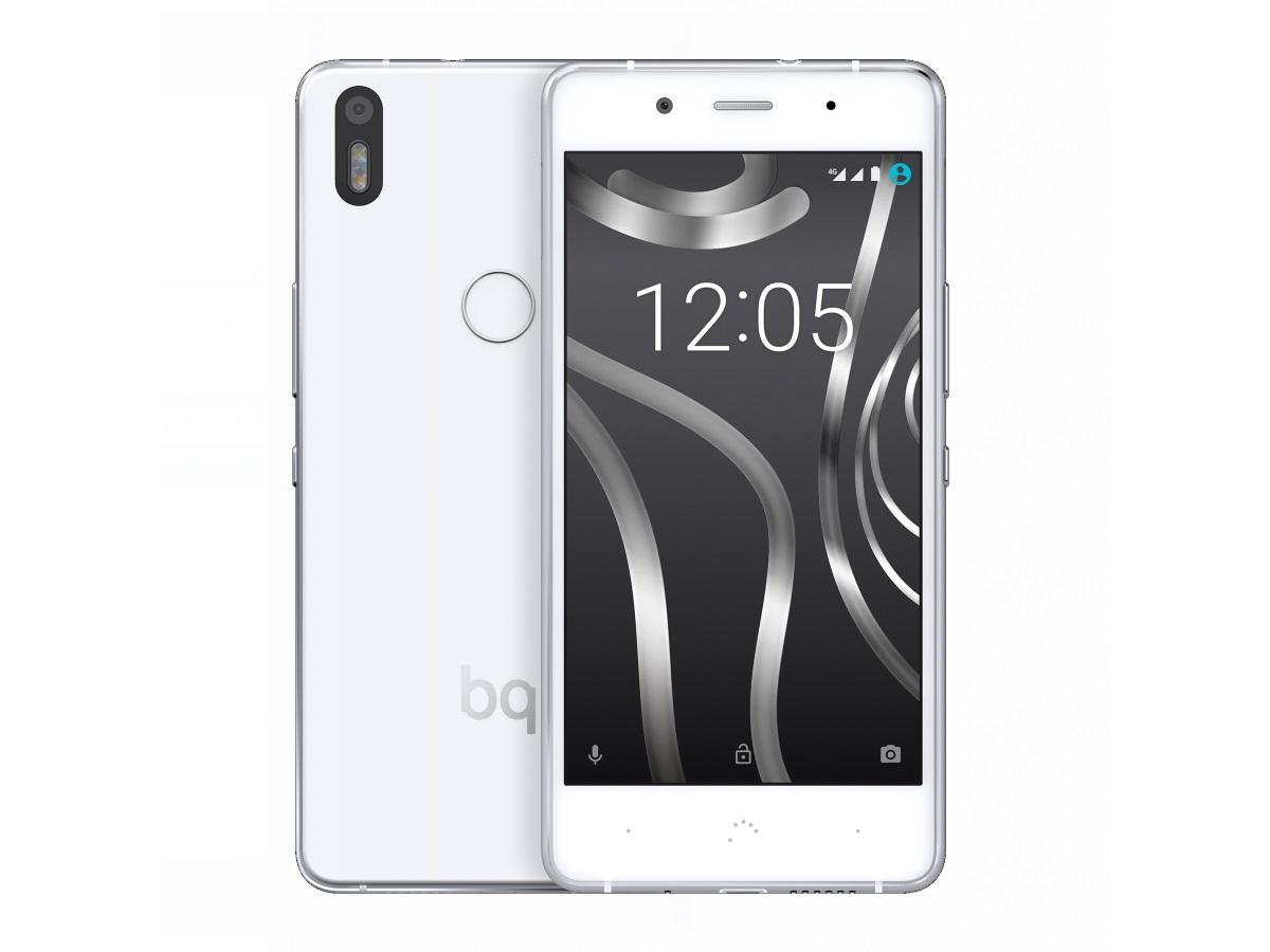 """Das <a href=\""""http://www.zdnet.de/88260848/mwc-bq-stellt-android-6-0-smartphone-aquaris-x5-plus-vor/\"""" target=\""""_blank\"""">Aquaris X5 Plus</a> von BQ bringt einen Snapdragon-652-Prozessor mit acht Kernen, ein 5-Zoll-Display mit 1920 mal 1080 Pixeln sowie einen Fingerabdrucksensor zur Authentifizierung. Als Betriebssystem ist werkseitig Android 6.0.1 installiert, der Arbeitsspeicher misst 2 GByte und der interne Speicher 16 GByte. Die rückseitige Hauptkamera löst 13 Megapixel auf. Preis und Termin für den Marktstart noch nicht fest, eine Cyanogen Edition ist schon seit Mitte Januar für rund 240 Euro erhältlich (Bild: BQ)"""