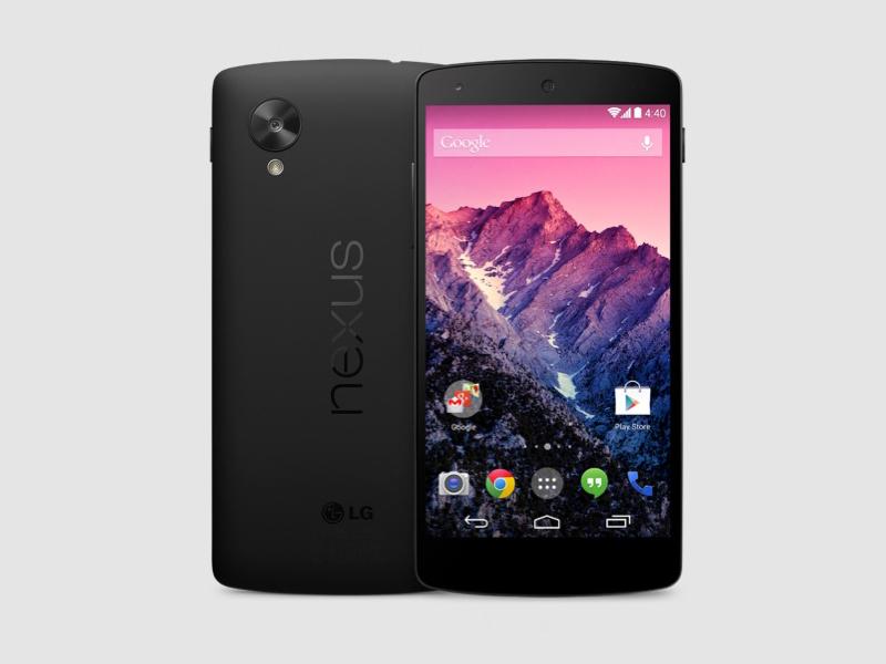 Nexus 5 in Schwarz.