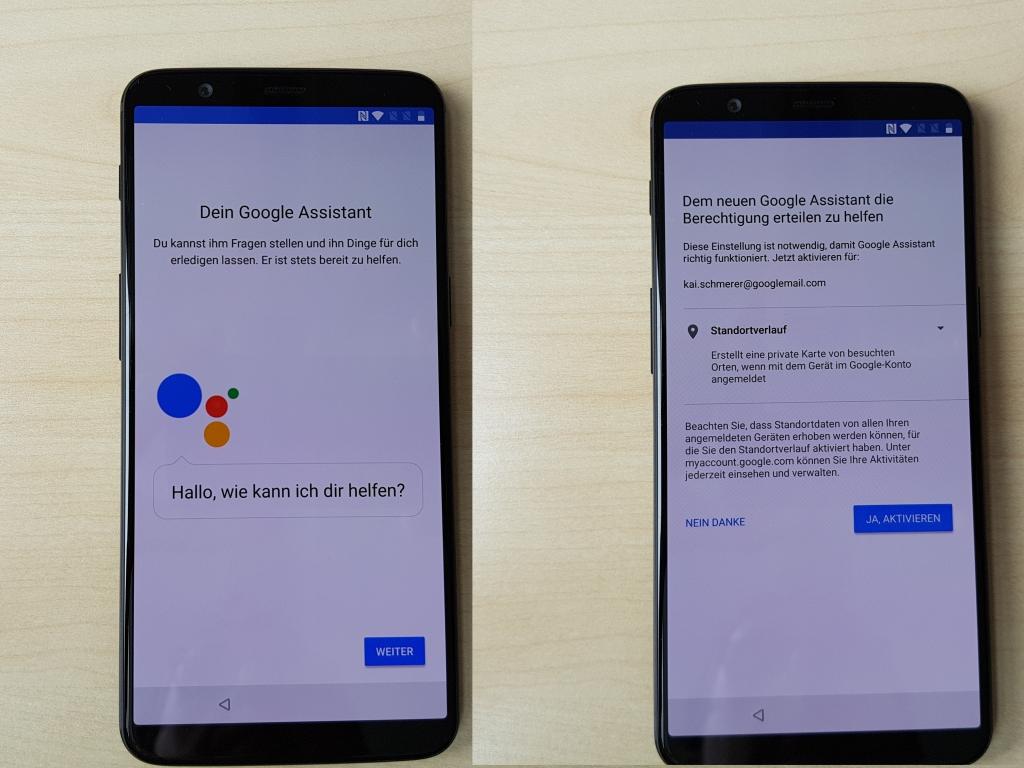 Dann geht es weiter mit der Konfiguration von Google Assistant.