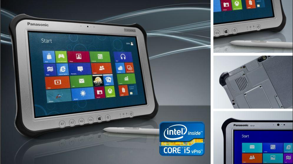 """Panasonic hat in München zwei Tablets vorgestellt, die vor allem für den Außendienst unter schwierigen Bedingungen vorgesehen sind. Das 10.1-Zoll-Gerät <a href=\""""http://business.panasonic.de/computerloesungen/toughpad/fz-g1\"""" target=\""""_blank\"""">Toughpad FZ-G1</a> verfügt über ein IPS-Alpha-Display, das eine Helligkeit von bis zu 800 cd/m² bietet. Damit soll der 1920 x 1200 Pixel auflösende Bildschirm auch bei hellen Lichtverhältnissen noch gut ablesbar sein. Als Betriebssystem kommt Windows 8 Pro zum Einsatz. Für genügend Performance soll der Intel Core i5 3537U mit 1,9 GHz sorgen, der auf 4 GByte Arbeitsspeicher zurückgreifen kann. Das 1,1 kg schwere Tablet soll dank der stabilen Bauweise Stürze aus einer Höhe von 120cm schadlos überstehen. Das 7-Zoll-Toughpad <a href=\""""http://business.panasonic.de/computerloesungen/toughpad/jt-b1\"""" title=\""""Panasonic Toughpad JT-B1\"""" target=\""""_blank\"""">JT-B1</a> basiert auf Android 4.0 Ice Cream Sandwich. Es bietet ein Anti-Glare-Panel mit einer Auflösung von 1024 x 600.    Als Prozessor verwendet Panasonic den 1,5 GHz schnellen Dual-Core-ARM-Chip OMAP 4460 von Texas Instruments. Beide Gerät sollen ab Ende Februar in Deutschland verfügbar sein. Preise hat Panasonic bisher nicht genannt."""