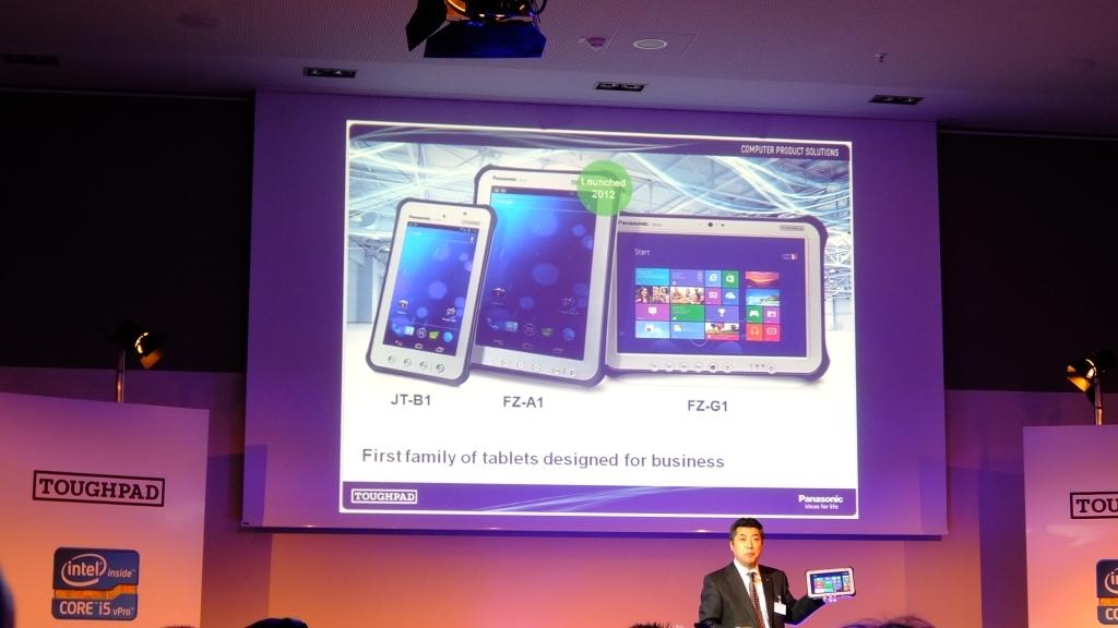 Insgesamt bietet Panasonic drei Tablets an. Neben den neuen Modellen JT-B1 und FZ-G1 steht noch das im letzten Jahr vorgestellte Android-Modell FZ-A1 mit 10,1-Zoll-Display zur Verfügung.