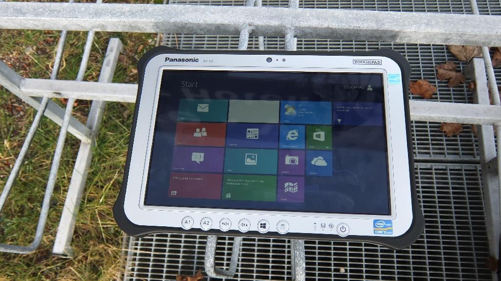 Laut Panasonic soll das Display des Toughpad  FZ-G1 nahezu blendfrei sein.