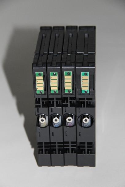 Da jede Patronen unterhalb des Chips unterschiedlich codiert ist, ...  (Foto: ZDNet.de).