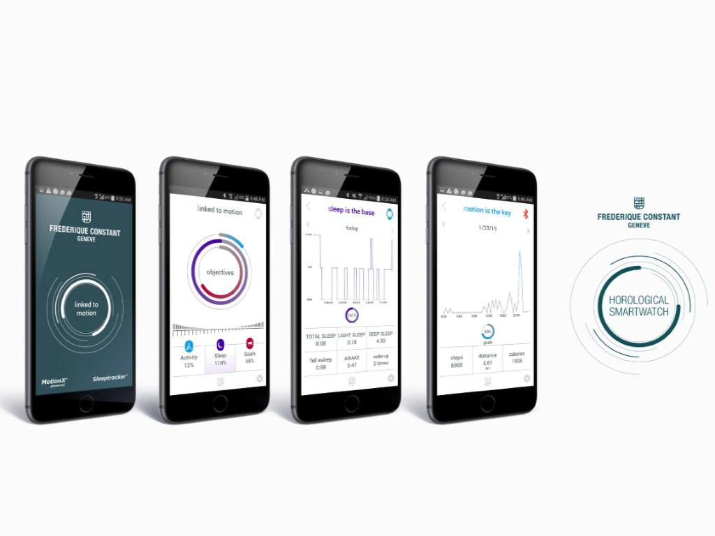 Die erste Generation der Horological Smartwatches von Frédérique Constant, Alpina und Mondaine bietet neben der Anzeige von Uhrzeit und Datum zusammen mit einem Android- oder iOS-Smartphone folgende Funktionen:</br>  - Automatische Einstellung sowie Korrektur von Uhrzeit und Datum über das Smartphone, auch bei Zeitzonenwechsel</br> -MotionX-Aktivitätserfassung </br> -Schlaferfassung</br> -Schlafphasenwecker</br> -Inaktivitätsalarm</br>-Adaptives Coaching</br> -Mindestens zwei Jahre Batterielebensdauer</br>-MotionX-Cloud-Datensicherung und -Wiederherstellung</br>  Die Informationen zu Aktivität und Schlaf werden in Echtzeit  auf dem traditionellen analogen Zifferblatt der Swiss Horological  Smartwatch angezeigt. Die iOS- und Android-Apps zeigen mithilfe von Grafiken, wie viel  Bewegung und Schlaf der Träger  der Uhr im Laufe des Tages, der Woche oder des Monats hatte. (Bild: MMT)