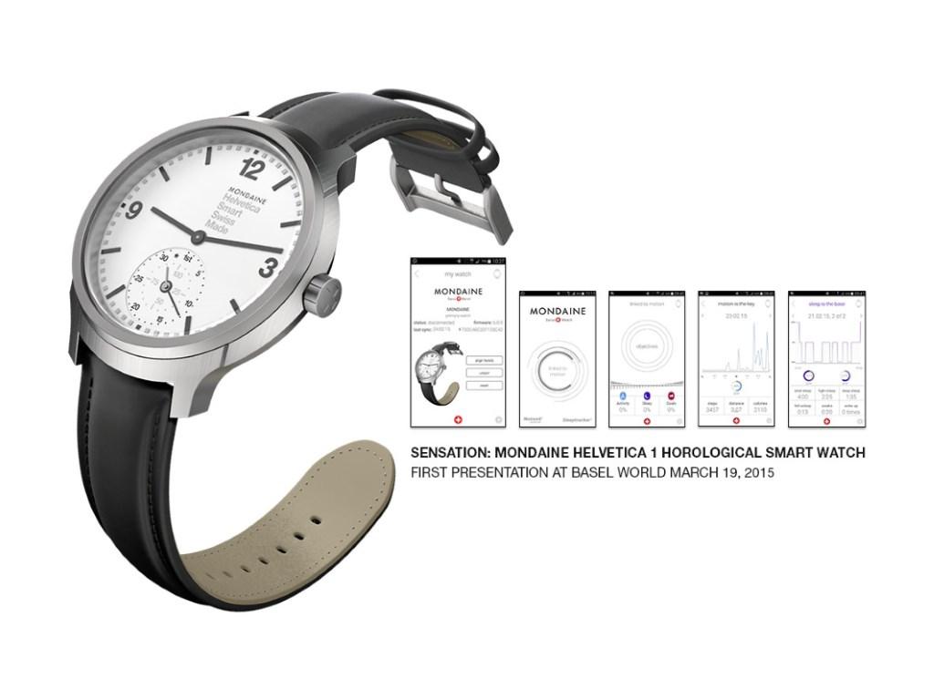 """Für die Mondaine Helvetica No.1 Horological Smartwatch verlangt der Hersteller 850 Schweizer Franken. Die Smartwatch mit dem an das Design der Schweizer-Bahnhofsuhren angelehnten Zifferblatts soll ab Herbst in den Handel kommen. Zuvor kann man sie auf der <a href=\""""http://www.baselworld.com/\"""" target=\""""_blank\"""">Baselword</a> im März in Augenschein nehmen (Bild: Mondaine)."""
