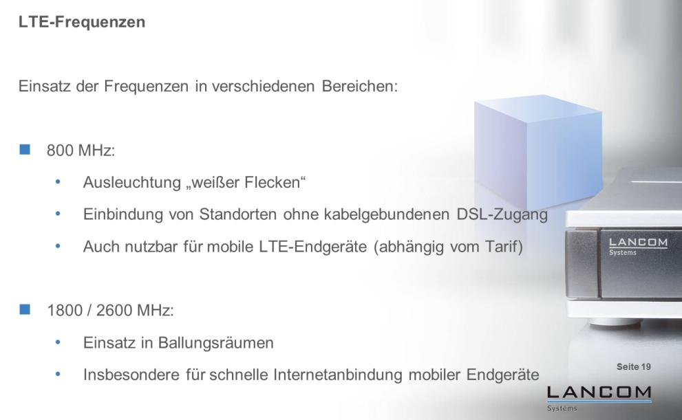 """Die großen LTE-800-Zellen eignen sich für den raschen Rollout in ländlichen Gebieten. Die kleinen LTE-2600-Zellen dagegen sind ideal für stark bevölkerte Hotspots in Messen, Bahnhöfen, Flughäfen und Einkaufszentren (Grafik: LANCOM Systems). <br> <a href=\""""http://www.zdnet.de/88132147/lte-warum-kommen-keine-100-mbits-einflussfaktoren-der-4g-surfgeschwindigkeit/\"""" title=\""""Zum Artikel: LTE: Warum kommen keine 100 Megabit/s?\"""">Zum Artikel: LTE: Warum kommen keine 100 Megabit/s?</a>"""