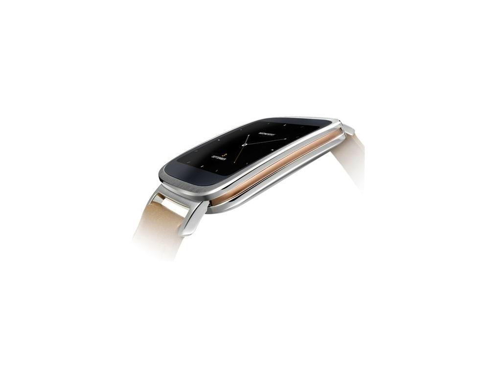 Die ZenWatch hinterlässt einen sehr hochwertigen Eindruck, der auch durch eine goldene Umrandung verstärkt wird. Das Armband besteht aus echtem Leder. </br>In Sachen Technik bietet die Uhr bietet einen Puls- und Schrittzähler, deren Daten von der integrierten App Wellness Manager verarbeitet werden.  Zur schicken Optik des Gehäuses gesellt sich zudem die Möglichkeit, die Darstellung der Uhr zu verändern. Dazu stehen dem Nutzer verschiedene anpassbare Varianten zur Auswahl, um die Uhr dem Outfit, dem Befinden oder dem Anlass entsprechend aussehen zu lassen. Vom eleganten Auftritt im Büro oder bei einer Feierlichkeit bis zu einem legeren Freizeitlook stehen dem ZenWatch-Besitzer viele Style-Kombinationen zur Auswahl.