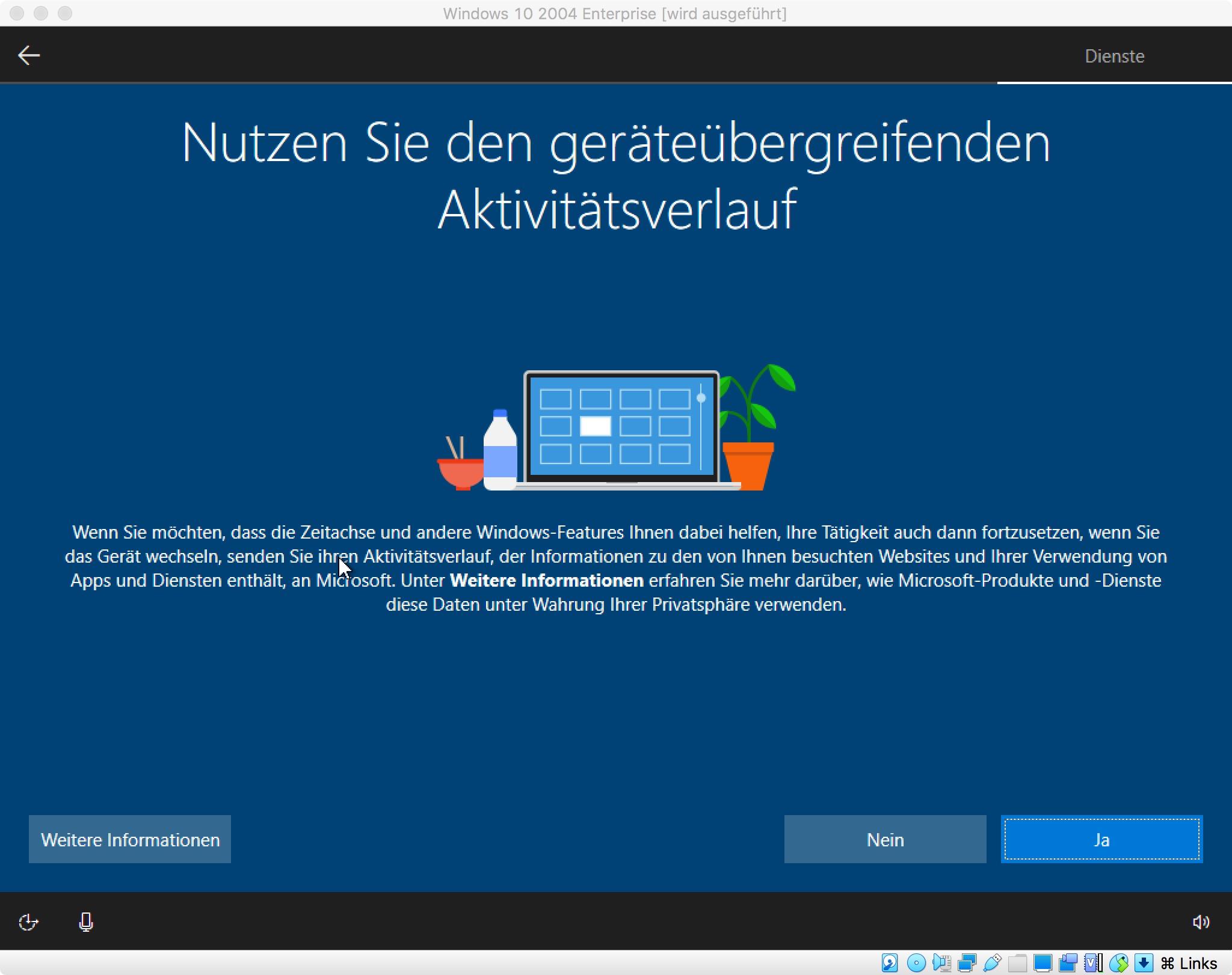 """Die Bildergalerie zeigt die Installation von Windows 10 2004 Enterprise Edition auf Basis der Insider-Version 19041.84. Nach der Installation erhöht das Update KB4550936 die Buildnummer auf 19041.207. Damit entspricht sie der finalen Version, die Microsoft ab Mai verteilen will.<br> Weitere Infos: <a href=\""""https://www.zdnet.de/88379112/windows-10-2004-installieren-und-optimal-einrichten/\"""" target=\""""_blank\"""">Windows 10 2004 installieren und optimal einrichten</a>"""