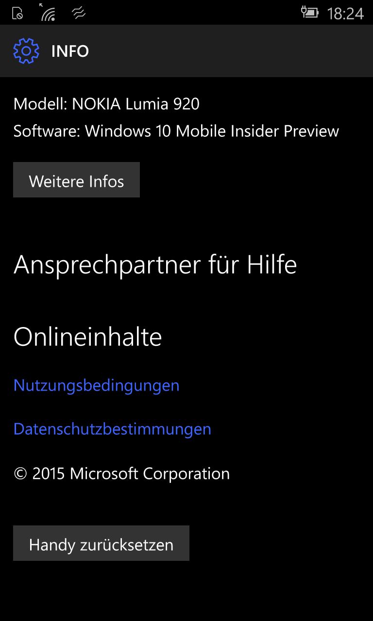 Leider ist das noch nicht das Ende. So konnten mit Lumia 920 keine Bildschirmfotos erstellt werden. Erst nachdem das Gerät zurückgesetzt wurde, stand die Funktion zur Verfügung. Das Zurücksetzen des Geräts dauert gut weitere 20 Minuten.