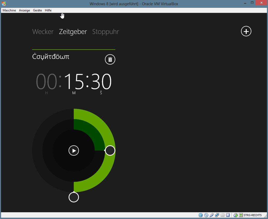Die Uhr bietet auch eine Countdown-Funktionalität.